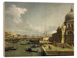 Wood print  Regatta on the Canale Grande - Antonio Canaletto