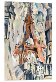 Acrylic glass  The Eiffel Tower - Robert Delaunay