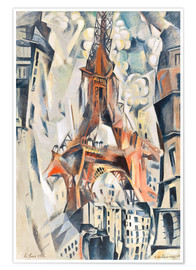 Premium poster  The Eiffel Tower - Robert Delaunay