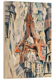 Wood print  The Eiffel Tower - Robert Delaunay