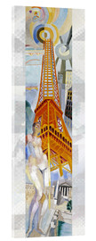 Acrylic print  The woman and the tower - Robert Delaunay