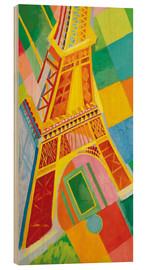 Wood print  Eiffel Tower - Robert Delaunay