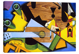 Canvas print  Still Life with Guitar - Juan Gris