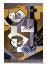 Premium poster  Still life with wine bottle - Juan Gris