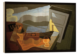 Wood print  View of the Bay - Juan Gris