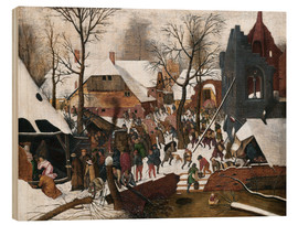 Wood print  Adoration of the Magi - Pieter Brueghel d.Ä.