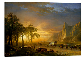 Acrylic print  Wagon Train on the Prairie - Albert Bierstadt