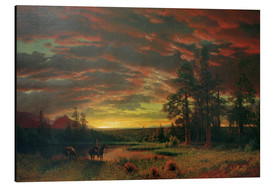 Aluminium print  Evening on the Prairie - Albert Bierstadt
