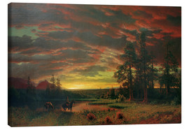 Canvas print  Evening on the Prairie - Albert Bierstadt