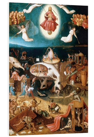 Foam board print  The Last Judgement - Hieronymus Bosch