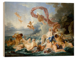 Wood print  Triumph of Venus - François Boucher