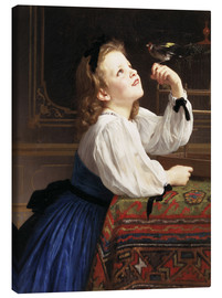 Canvas print  Beloved Bird - William Adolphe Bouguereau