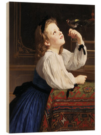 Wood print  Beloved Bird - William Adolphe Bouguereau