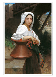 Premium poster Young Italian Girl at a well