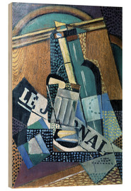 Wood  The newspaper - Juan Gris