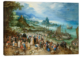 Jan Brueghel d.Ä. - Seaport with Christ's Sermon