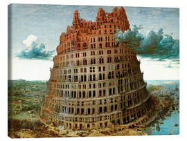 Canvas  The Tower of Babel - Pieter Brueghel d.Ä.
