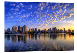 Acrylic print  Sunrise over Vancouver - Chuck Haney