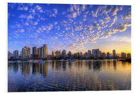 Foam board print  Sunrise over Vancouver - Chuck Haney