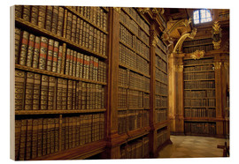 Wood print  Old library of Melk Abbey - Cindy Miller Hopkins