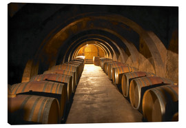 Canvas print  Wine cellar with wine barrels - Per Karlsson