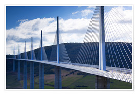 Premium poster Millau Viaduct and bridge
