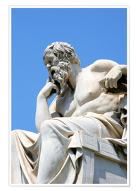 Premium poster Statue of the thinking Socrates