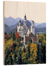 Wood print  Neuschwanstein Castle - Ric Ergenbright