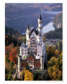 Premium poster Neuschwanstein and Alpsee in Bavaria, Germany