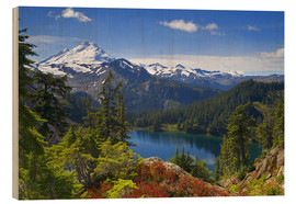 Wood print  Iceberg Lake and Mount Baker - Don Paulson