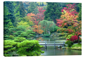 Canvas print  Japanese Garden in Seattle - Janell Davidson