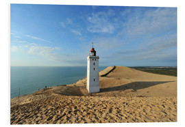 Foam board print  Lighthouse Rubjerg Knude in Denmark - HADYPHOTO by Hady Khandani
