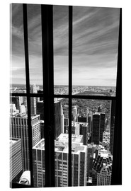 Acrylic print  Window view of Central Park - Buellom