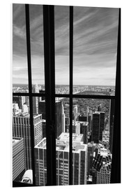 Foam board print  Window view of Central Park - Buellom