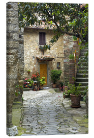 Canvas print  Quaint village lane in Montefiorale - Brenda Tharp
