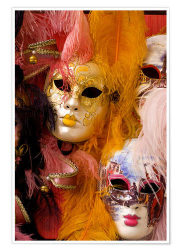 Premium poster Colorful carnival masks