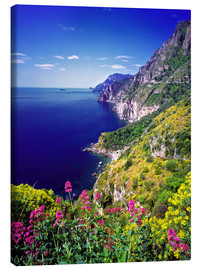 Canvas print  Cliffs with wildflowers - Ric Ergenbright