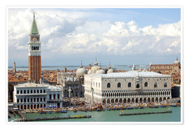 Premium poster St. Mark's Square on the Grand Canal