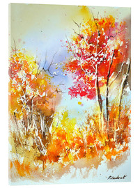 Acrylic glass  Autumnal watercolor - Pol Ledent
