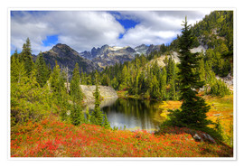 Premium poster Autumn mountain landscape