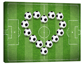 Canvas print  Love for Soccer - TAlex