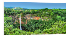 Foam board print  Chamarel Waterfalls Mauritius - Stefan Becker