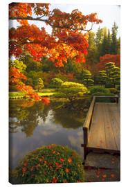 Canvas print  Japanese garden with maple - Richard Duval