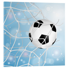Acrylic print  Soccer Ball in Net - TAlex