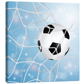 Canvas print  Soccer Ball in Net - TAlex
