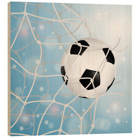 Wood print  Soccer Ball in Net - TAlex