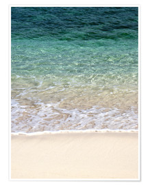 Premium poster Beach and blue ocean