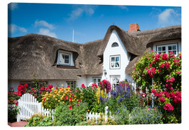 Canvas print  Amrum - thatched house with flower garden - Reiner Würz