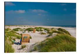 Aluminium print  Amrum beach with dunes and marram grass - Reiner Würz