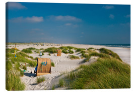 Canvas print  Amrum beach with dunes and marram grass - Reiner Würz